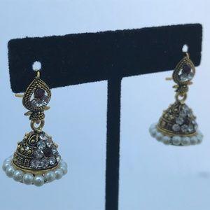 Jhumka Earrings Indian Traditional Earrings Gold T
